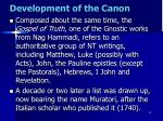 development of the canon4