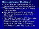 development of the canon5