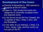 development of the canon6