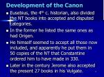 development of the canon8
