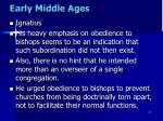 early middle ages