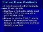 irish and roman christianity