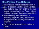 one person two natures