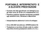 portabile interpretato e a elevate prestazioni
