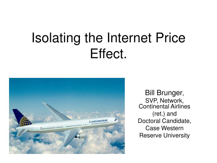 isolating the internet price effect n.