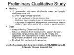 preliminary qualitative study