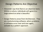 design patterns are objective