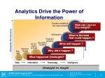 analytics drive the power of information