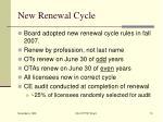 new renewal cycle