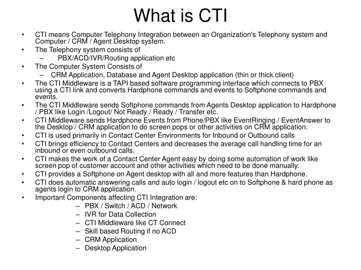 What is cti