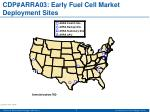 cdp arra03 early fuel cell market deployment sites