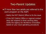 two parent updates5