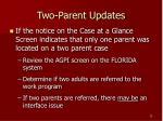 two parent updates6