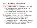 xen memory allocation