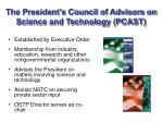 the president s council of advisors on science and technology pcast