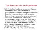 the revolution in the biosciences