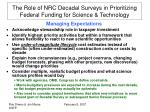the role of nrc decadal surveys in prioritizing federal funding for science technology4