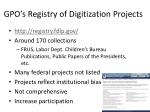 gpo s registry of digitization projects