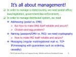 it s all about management