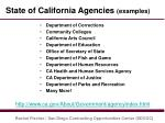 state of california agencies examples