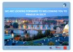 we are looking forward to welcoming you to prague in 2017