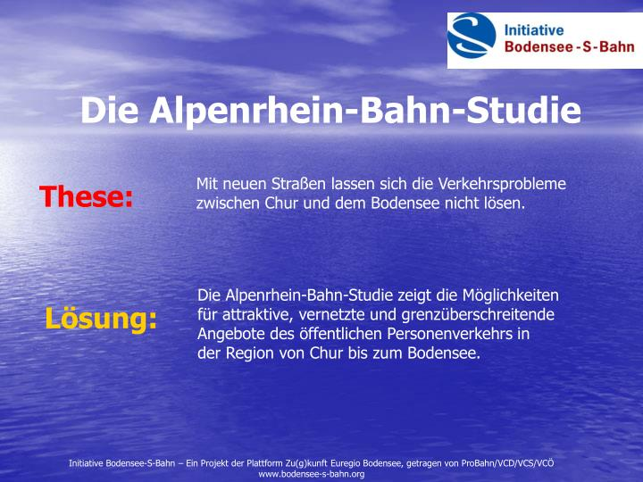Die Alpenrhein-Bahn-Studie