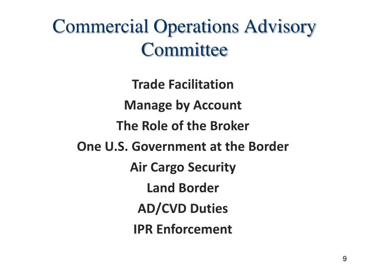 Commercial Operations Advisory Committee