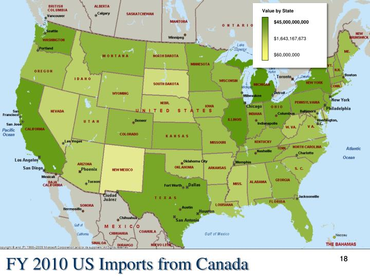 FY 2010 US Imports from Canada