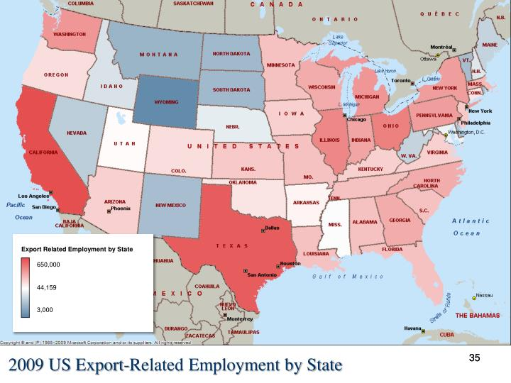 Export Related Employment by State