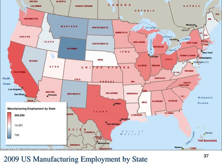 Manufacturing Employment by State