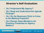 director s self evaluation