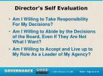 director s self evaluation1