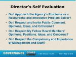 director s self evaluation2