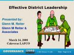 effective district leadership