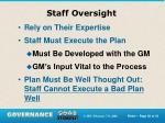 staff oversight