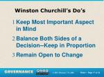 winston churchill s do s