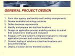 general project design