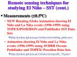 remote sensing techniques for studying el ni o sst cont2