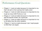 performance goal questions