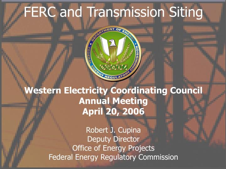 ferc and transmission siting n.