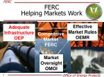 ferc helping markets work