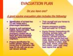 evacuation plan do you have one a good equine evacuation plan includes the following