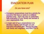 evacuation plan do you have one