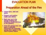 evacuation plan preparation ahead of the fire