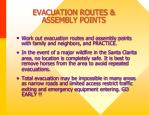 evacuation routes assembly points