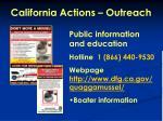 california actions outreach