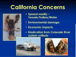 california concerns