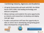 combining industry agencies and academia