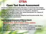otba open text book assessment