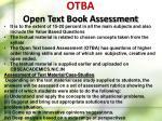 otba open text book assessment1